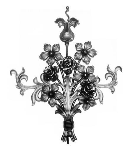 Ornament für Tore BS 1, Blumenstrauß