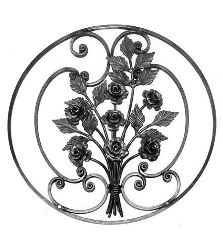 Ornament für Tore BS 4, Blumenstrauß