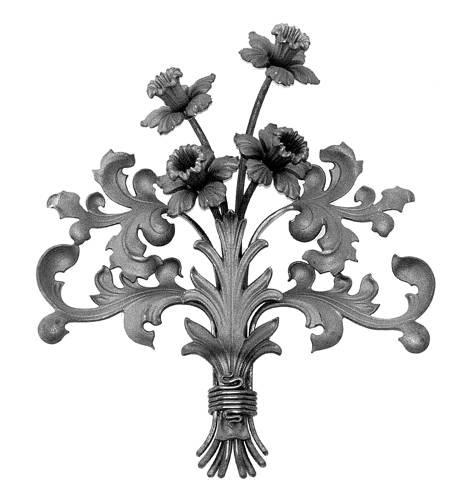 Ornament für Tore BS 2, Blumenstrauß
